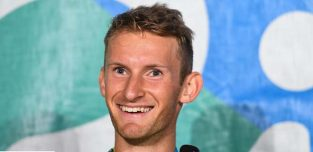 12 August 2016; Gary O'Donovan of Ireland during a press conference after the Men's Lightweight Double Sculls A final in Lagoa Stadium, Copacabana, during the 2016 Rio Summer Olympic Games in Rio de Janeiro, Brazil. Photo by Brendan Moran/Sportsfile