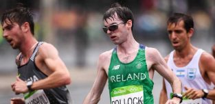 21 August 2016; Paul Pollock of Ireland in action during the Men's Marathon during the 2016 Rio Summer Olympic Games in Rio de Janeiro, Brazil. Photo by Stephen McCarthy/Sportsfile
